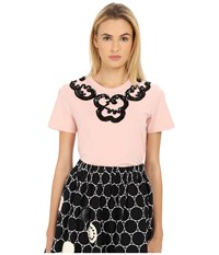 Marc By Marc Jacobs Embroidered Collar Tee Nude Peach Multi