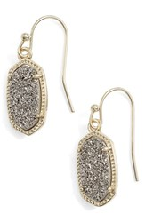 Women's Kendra Scott 'Lee' Small Drop Earrings Platinum Drusy Gold