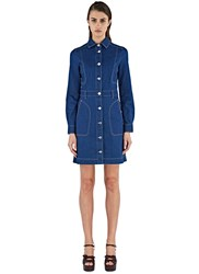 Stella Mccartney Denim Shirt Dress Blue