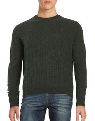 Brooks Brothers Cableknit Wool Sweater Green