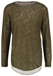 Selected Homme Shxflorence Long Sleeved Top Olive Night Green