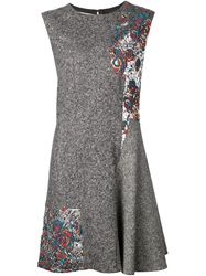 Stella Mccartney Flared Sleeveless Dress Grey