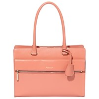 Modalu Erin Structured Leather Tote Bag Rose Pink