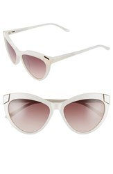 Women's Ted Baker London 57Mm Cat Eye Sunglasses White Ivory