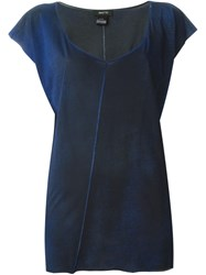 Avant Toi Seam Detail T Shirt Blue