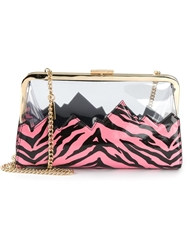 Moschino Cheap And Chic Contrasting Panel Shoulder Bag Pink And Purple