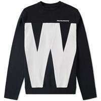 White Mountaineering Contrast W Crew Sweat Black