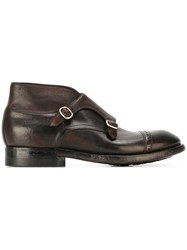 Silvano Sassetti Buckled Ankle Boots Brown