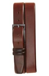 Boss Men's 'Carmello' Leather Belt Medium Brown