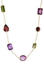 Renee Lewis Women's Mixed Gemstone Necklace Pink