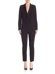 L'agence Fitted Long Sleeve Jumpsuit Black