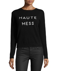 Milly Haute Mess Cashmere Sweater Black