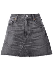 Citizens Of Humanity Denim Mini Skirt Black