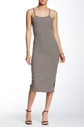 Blvd Cross Back Striped Dress Multi