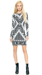 Ktz Printed Dress Black