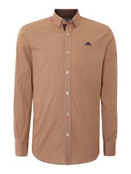State Of Art Long Sleeve Casual Shirt Brown