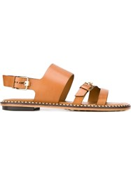 Tod's Buckled Sandals Brown