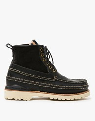 Visvim Grizzly Boots Mid Folk Black