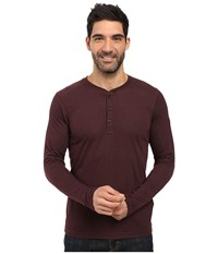 The North Face Long Sleeve Crag Henley Root Brown Dark Heather Men's Clothing