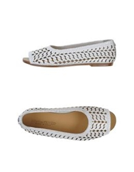 Collection Privee Collection Privee Ballet Flats White