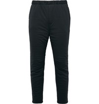 Snow Peak Slim Fit Insulated Stretch Jersey Trousers Black