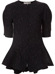 Stella Mccartney Speckled Flared Hem Top Black