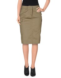 Escada Sport Skirts Knee Length Skirts Women Military Green