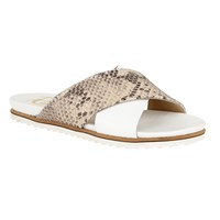 Ravel Westford Flat Open Toe Sandals White