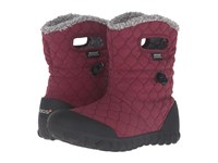 Bogs B Moc Quilted Puff Burgundy Women's Waterproof Boots
