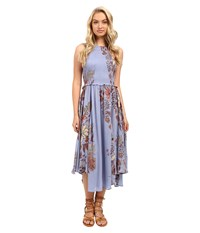 Free People Seasons In The Sun Slip Blue Combo Women's Dress Multi