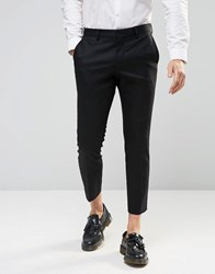 Selected Homme Cropped Skinny Fit Pants With Stretch Black