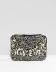 New Look Ombre Sequin Coin Purse Silver
