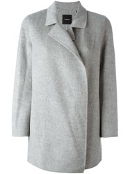 Theory Short Coat Grey