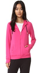 Beyond Yoga Kate Spade New York Cozy Tab Bow Hoodie Deep Carnation