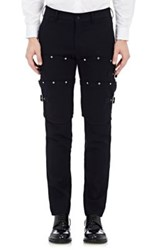 Comme Des Garcons Men's Wool Armor Inspired Slim Trousers Navy