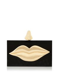 Dali Hard Shell Clutch Bag Black Charlotte Olympia