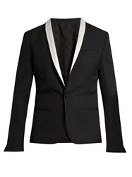 Haider Ackermann Orbai Satin Lapel Wool Dinner Jacket Black