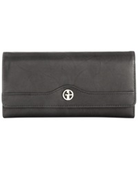 Giani Bernini Sandalwood Leather Receipt Manager Wallet Black