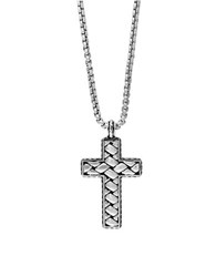 Effy Sterling Silver Cross Pendant Necklace
