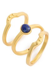 Madewell Women's Stone Stacking Rings Set Of 3 Bright Cobalt