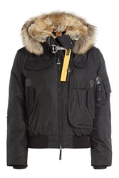 Parajumpers Gobi Down Bomber Jacket With Fur Trimmed Hood Gr. M