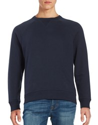 Brooks Brothers Raglan Sleeve Cotton Sweater Blue