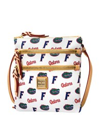 Dooney And Bourke Florida Gators Triple Zip Crossbody Bag White