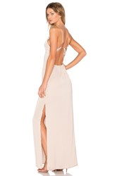 Capulet Deep V Maxi Dress Beige
