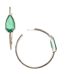 Stephen Dweck Large Cathedral Hoop Earrings W Green Agate