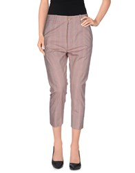 People Trousers 3 4 Length Trousers Women Maroon