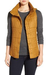 Eileen Fisher Women's Recycled Nylon Blend Quilted Channel Stitched Vest