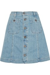 Joie Healy B Denim Mini Skirt Blue