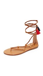 Soludos Gladiator Lace Up Sandals Tan