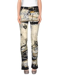 Roberto Cavalli Denim Denim Trousers Women Ivory